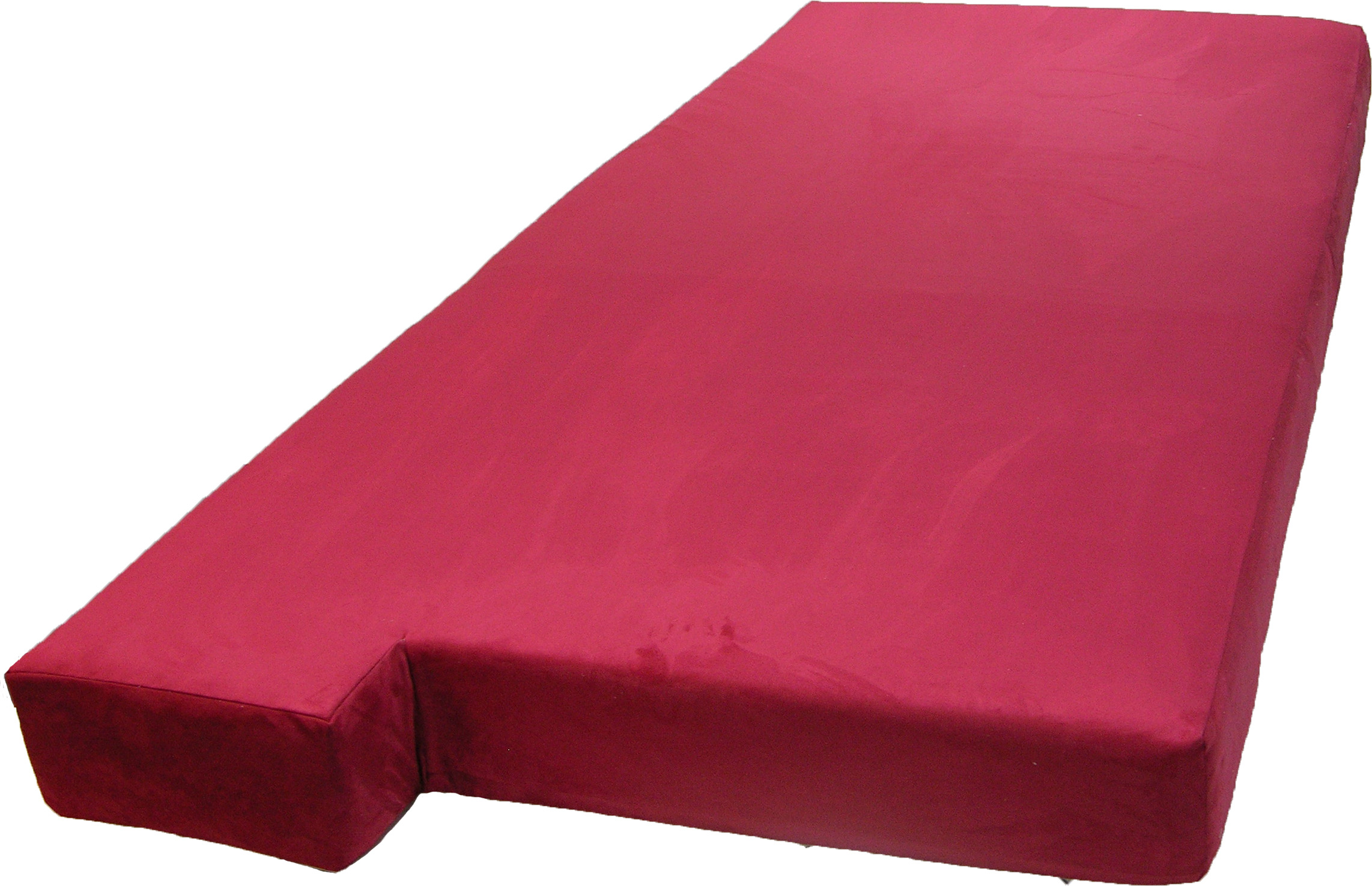 Large bay window seat cushion with 3 different colored covers