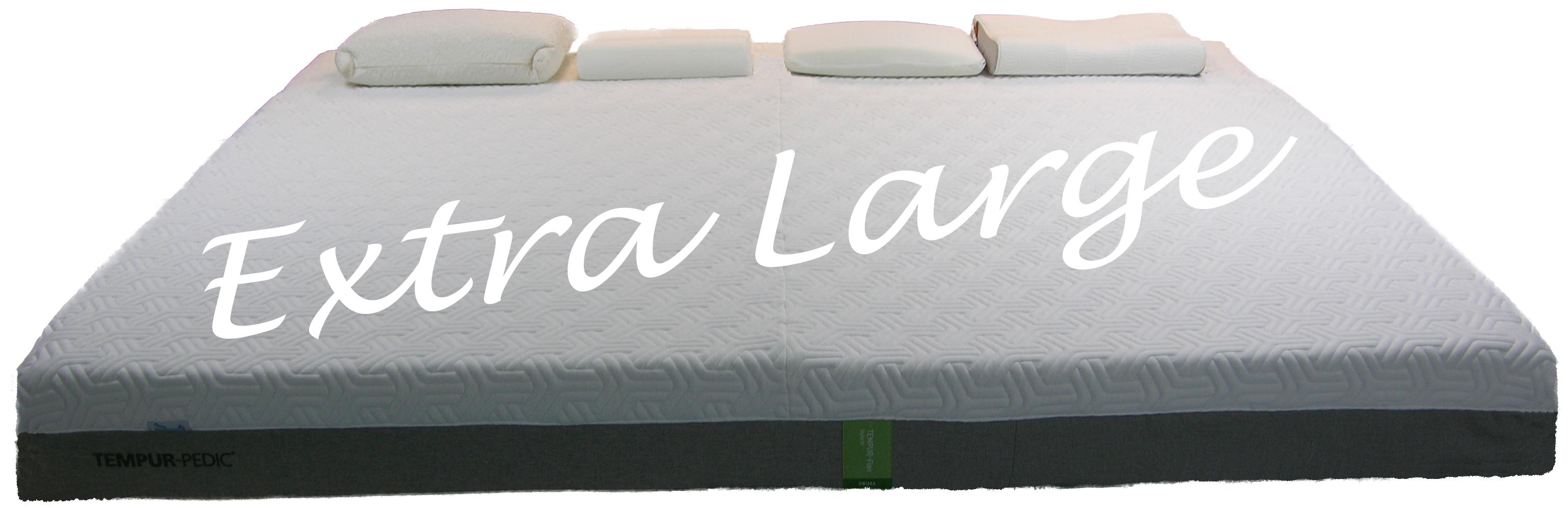 Extra Large Mattress custom made from Tempur-Pedic mattresses